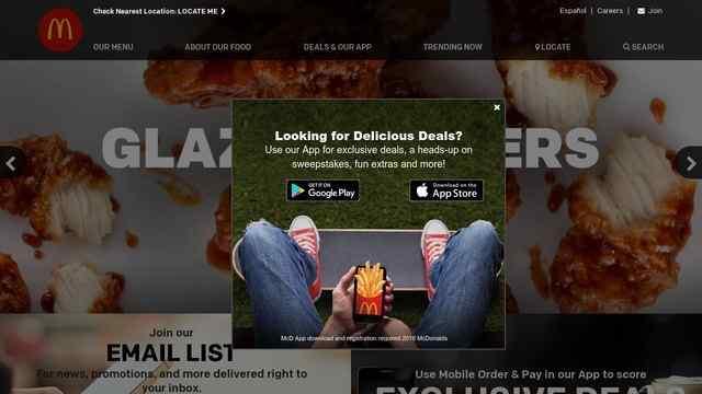 麦当劳网站
