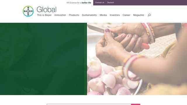 拜耳医药公司官方网站